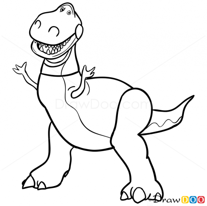 toy story rex coloring pages rex and hamm in toy story coloring page download print pages story rex coloring toy