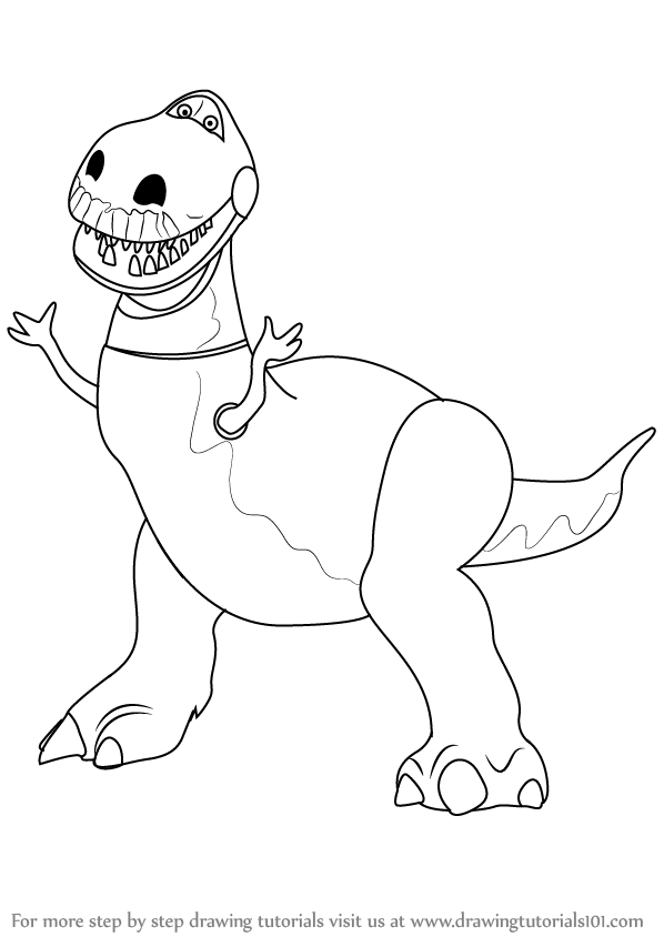 toy story rex coloring pages rex dinosaur toy story 2 coloring page movies toy story rex pages story coloring toy