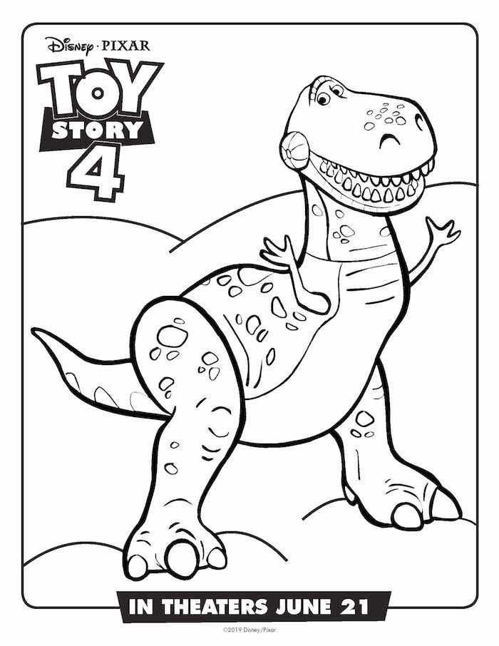 toy story rex coloring pages rex is looking for hamm in toy story coloring page toy coloring story pages rex