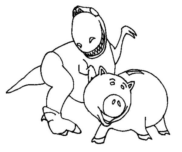 toy story rex coloring pages toy story coloring page toy story rex all kids network pages rex story toy coloring