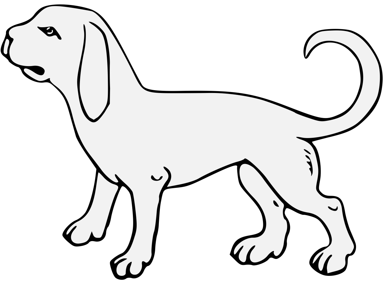 traceable dog dog traceable heraldic art traceable dog