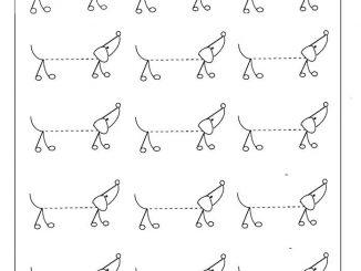 traceable dog dog worksheets traceable dog