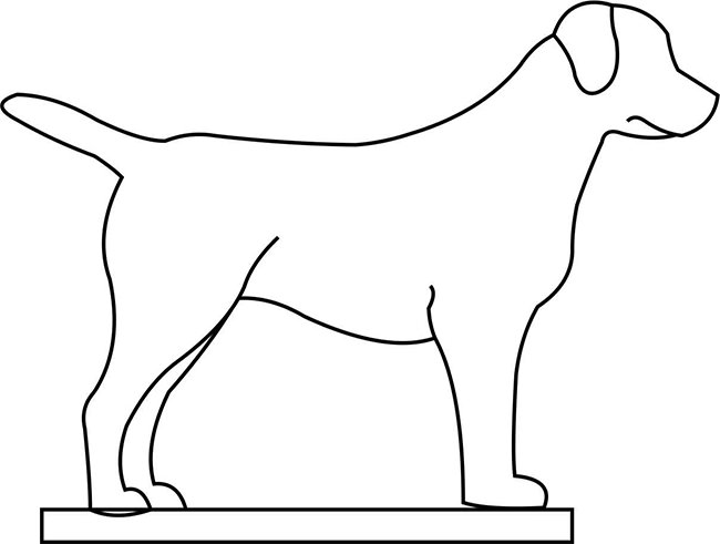 traceable dog free dog stencils to print and cut out traceable dog