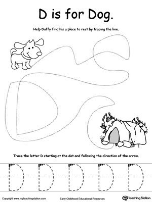 traceable dog the letter d is for dog alphabet worksheets d is for traceable dog