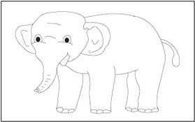 traceable elephant animal coloring and tracing pages traceable elephant