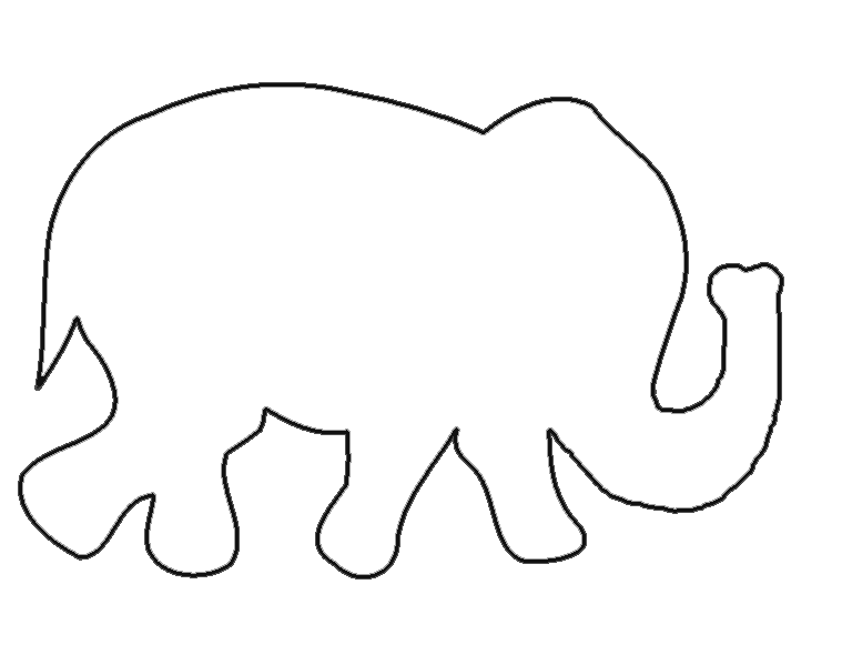 traceable elephant elephant pictures to trace clipart best traceable elephant