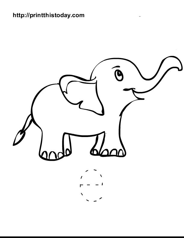 traceable elephant free printable alphabet worksheets letter a i elephant traceable