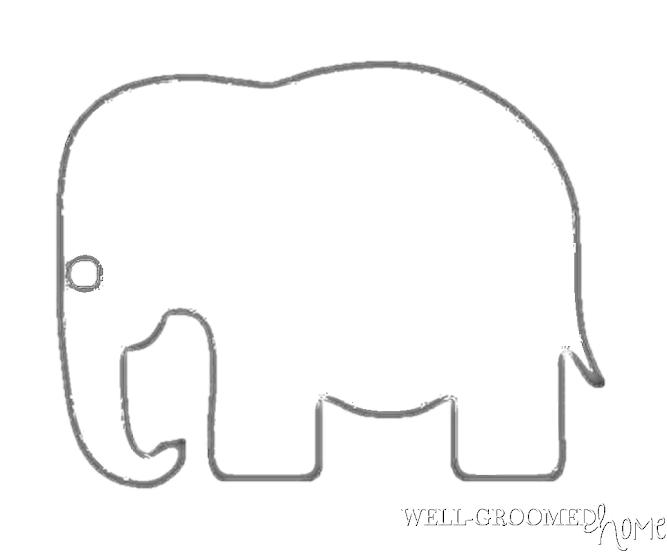 traceable elephant neutral nursery art well groomed home traceable elephant