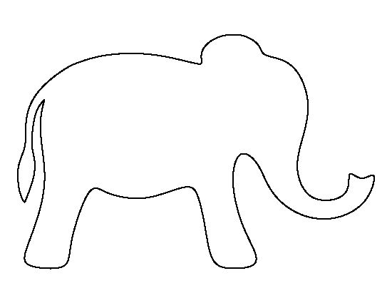 traceable elephant pin by muse printables on printable patterns at traceable elephant 1 1