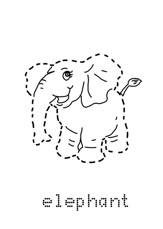 traceable elephant preschool tracing worksheets best coloring pages for kids traceable elephant