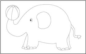 traceable elephant toys coloring and tracing pages traceable elephant