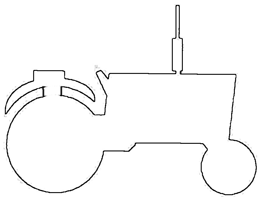 tractor stencil free bulldozer pattern use the printable outline for crafts tractor stencil free