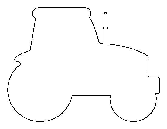 tractor stencil free printable tractor template tractor stencil free