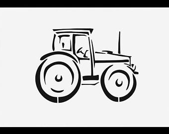 tractor stencil free tractor and sheep stencil buy reusable wall stencils free tractor stencil