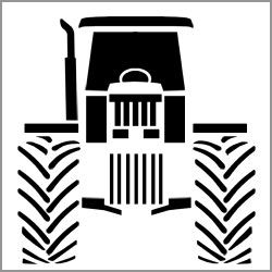tractor stencil free tractor outline google search tractor crafts tractors tractor stencil free