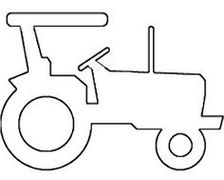 tractor stencil free tractor pattern use the printable outline for crafts stencil free tractor