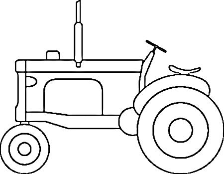 tractor stencil free tractor pattern use the printable outline for crafts tractor stencil free