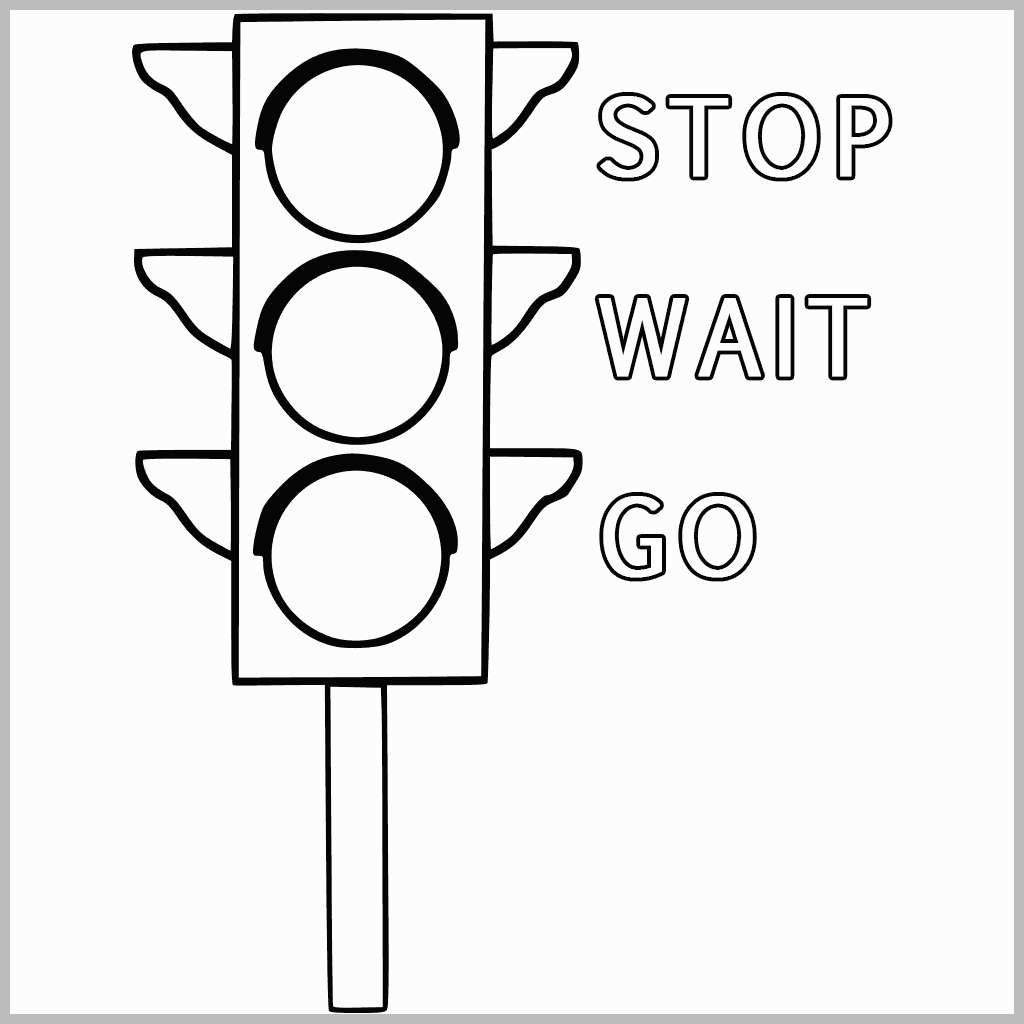 traffic light coloring page preschool blank wheel the traffic light coloring page traffic coloring page light