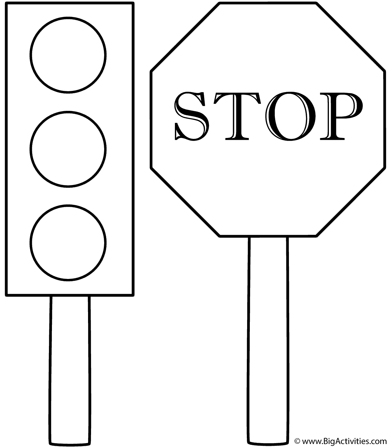 traffic light coloring page traffic light all coloring page wecoloringpagecom traffic page coloring light