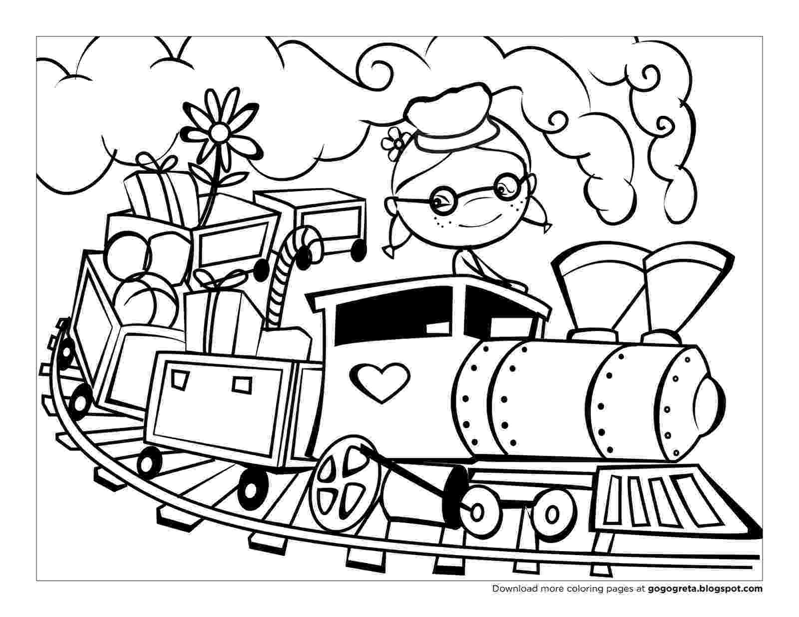 train pictures to color the gretasphere pictures color to train