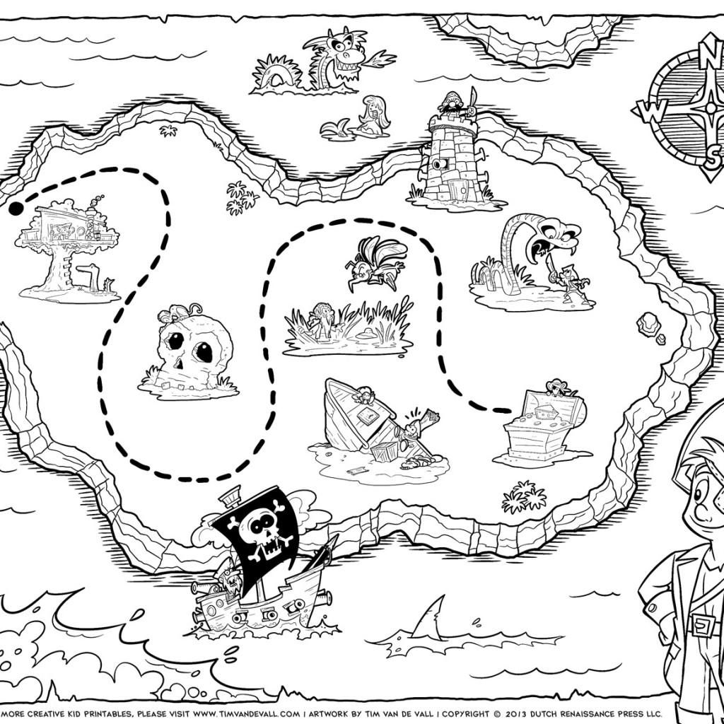 treasure map coloring page pirate treasure map coloring page page treasure coloring map