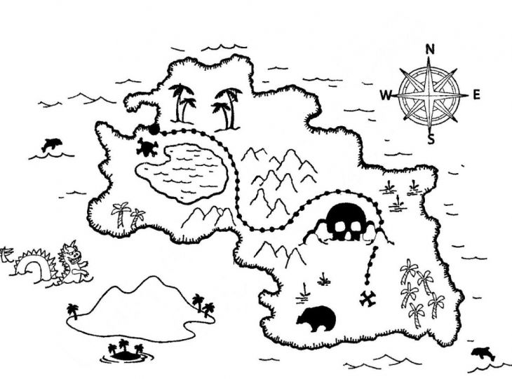 treasure map coloring page pirate treasure map etsy map treasure coloring page