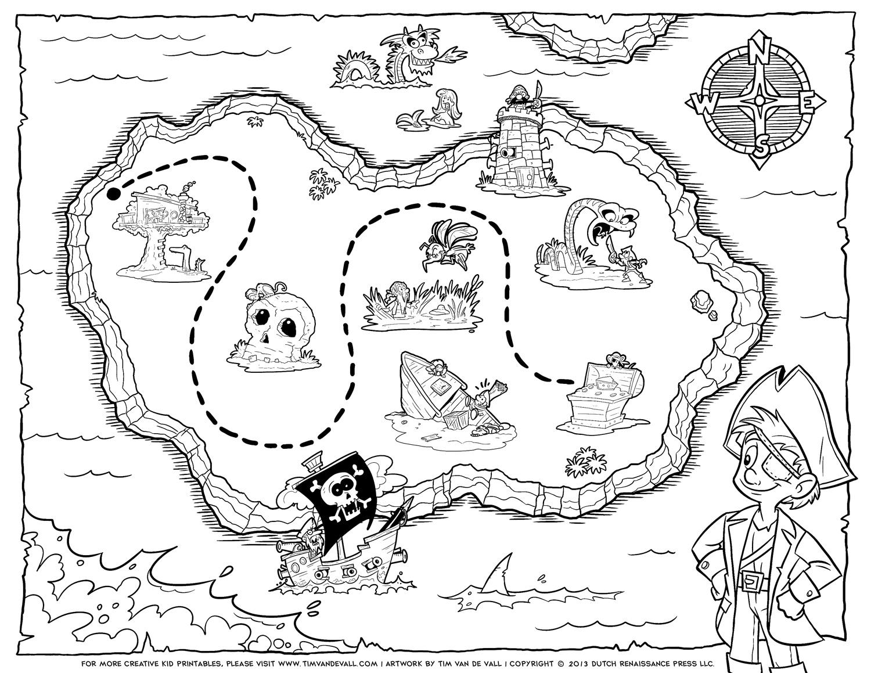 treasure map coloring page tim van de vall comics printables for kids map treasure page coloring