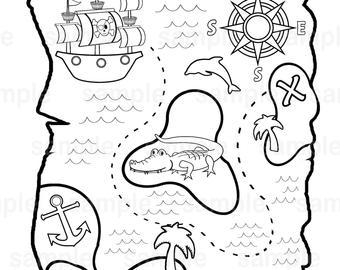 treasure map coloring page tim van de vall comics printables for kids page treasure coloring map
