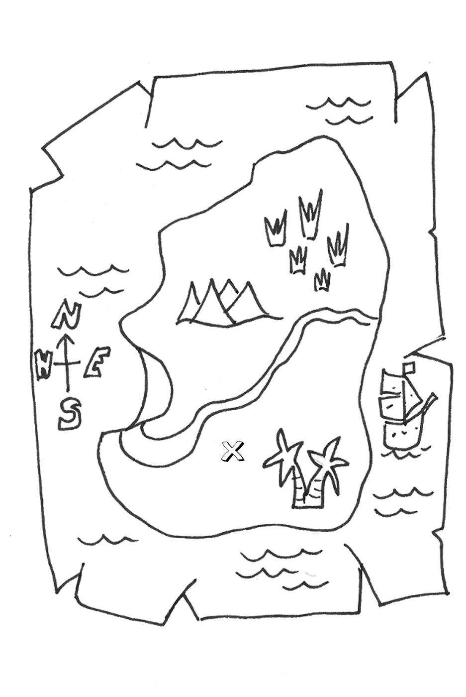treasure map coloring page treasure map coloring pages for kids treasure map coloring page