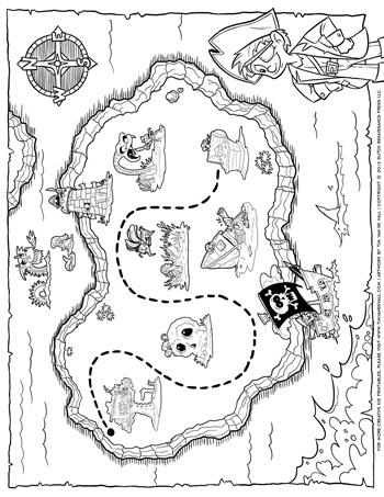 treasure map coloring page treasure map coloring pages page map coloring treasure