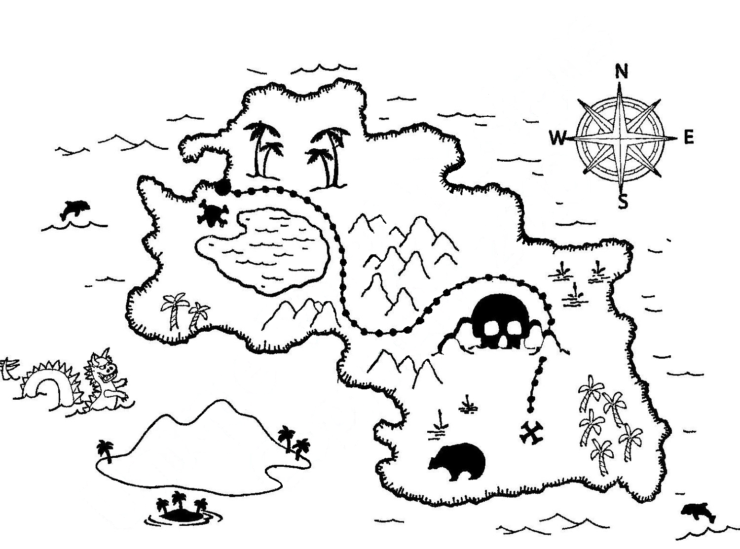 treasure map coloring page treasure maps coloring pages and hunt39s on pinterest treasure map page coloring