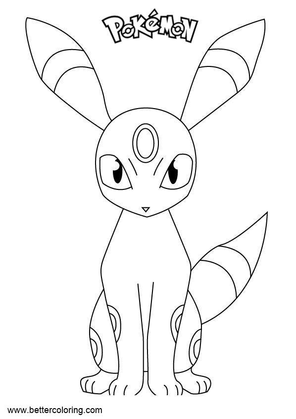 umbreon coloring pokemon umbreon coloring pages getcoloringpagescom umbreon coloring