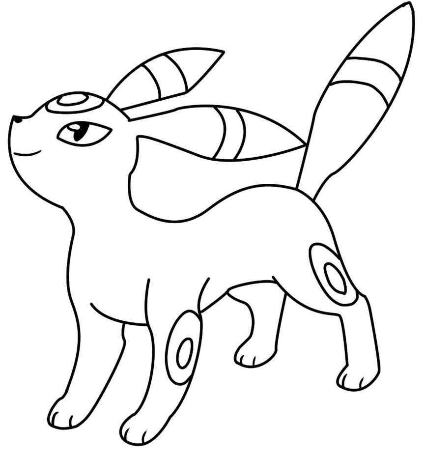 umbreon coloring umbreon coloring page free coloring pages online coloring umbreon