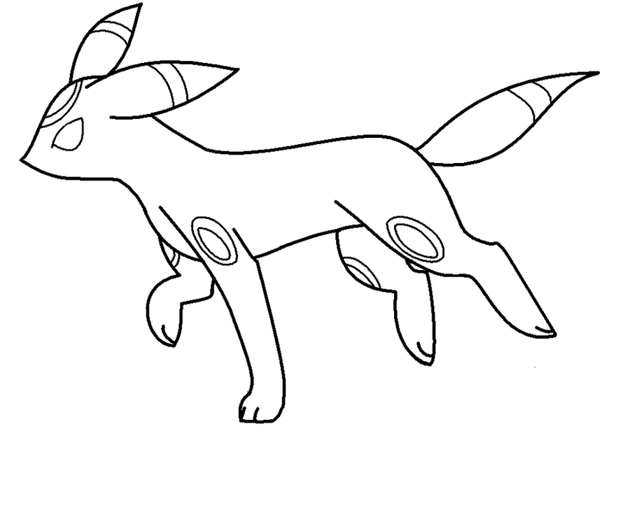umbreon coloring umbreon lineart2 by warriorcatgirl365 on deviantart coloring umbreon