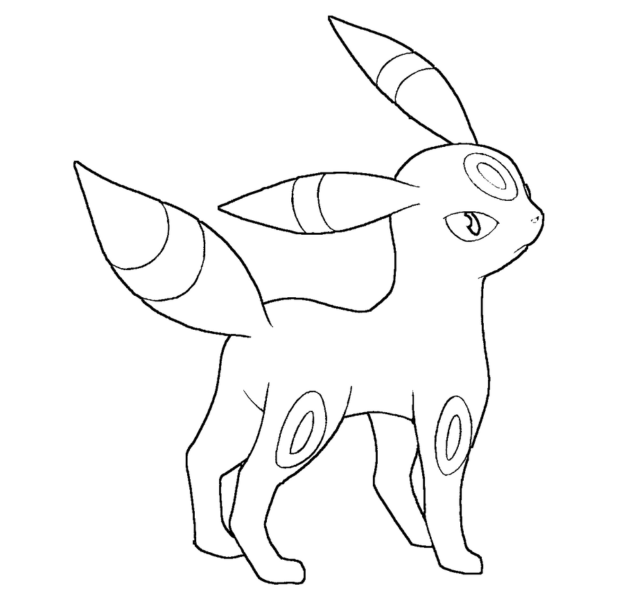 umbreon coloring umbreon lineartfree to use by hazeleyemedicinecat on umbreon coloring