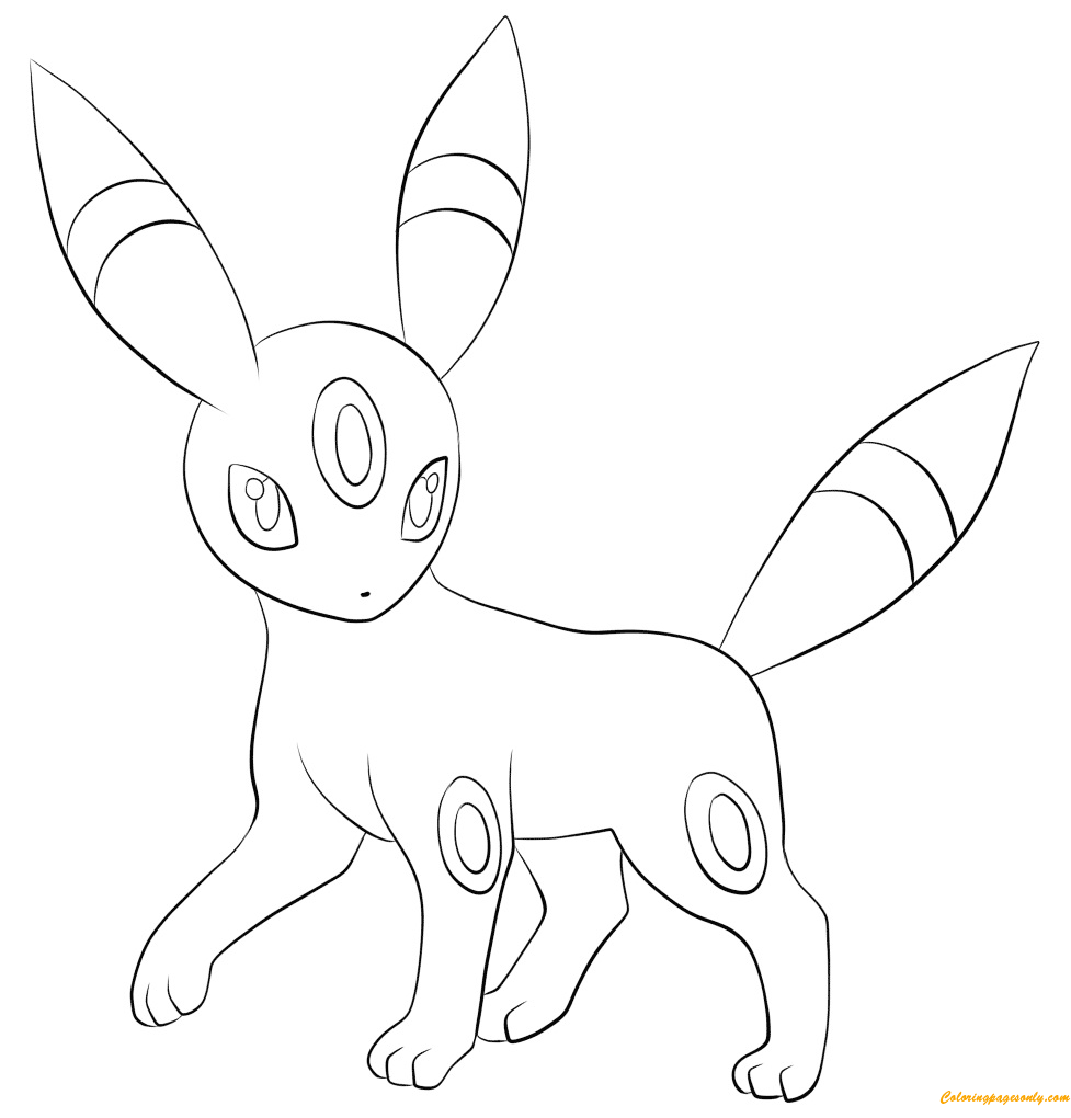 umbreon coloring umbreon pokemon coloring page coloring home umbreon coloring