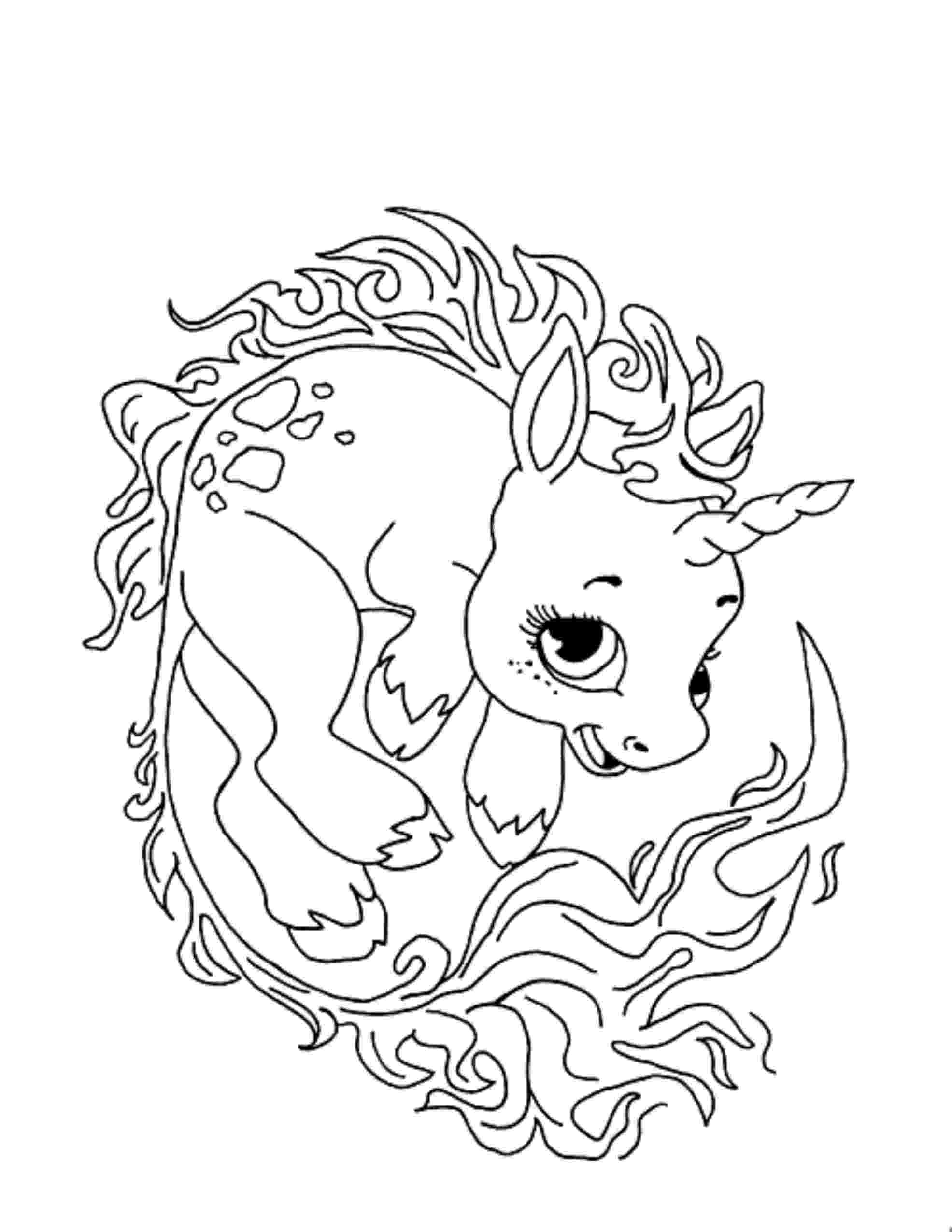 unicorn colouring unicorn color pages for kids loving printable unicorn colouring