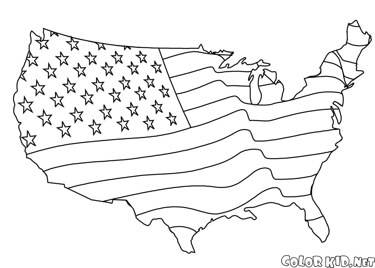 united states flag coloring page coloring page the united states of america coloring page flag states united