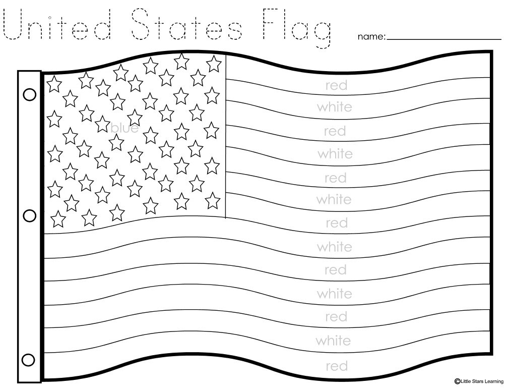 united states flag coloring page little stars learning flag day wprintables states coloring united page flag