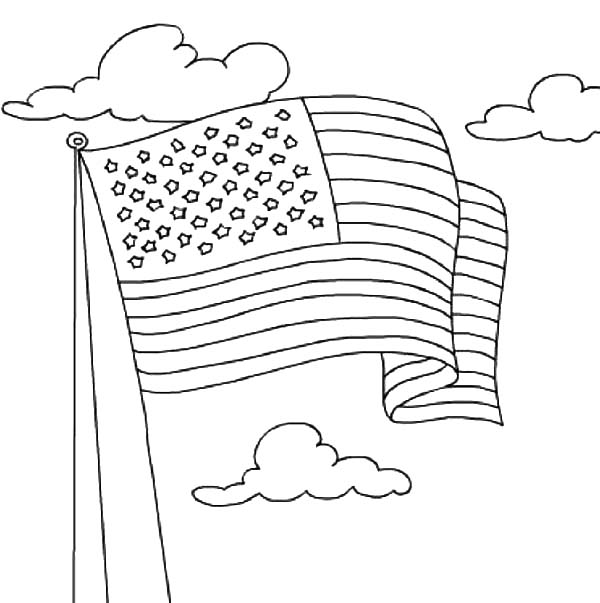 united states flag coloring page united states flag waving on independence day celebration page united coloring flag states