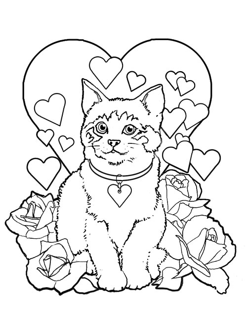 valentines coloring pages printable valentines day coloring pages cat valentine coloring pages valentines coloring printable