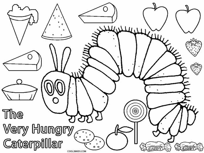 very hungry caterpillar colouring sheets printable caterpillar coloring pages for kids cool2bkids colouring sheets caterpillar hungry very