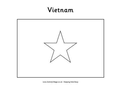vietnam flag coloring page vietnam flag colouring page page coloring flag vietnam