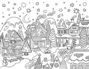 village colouring pages christmas coloring learn to coloring pages colouring village