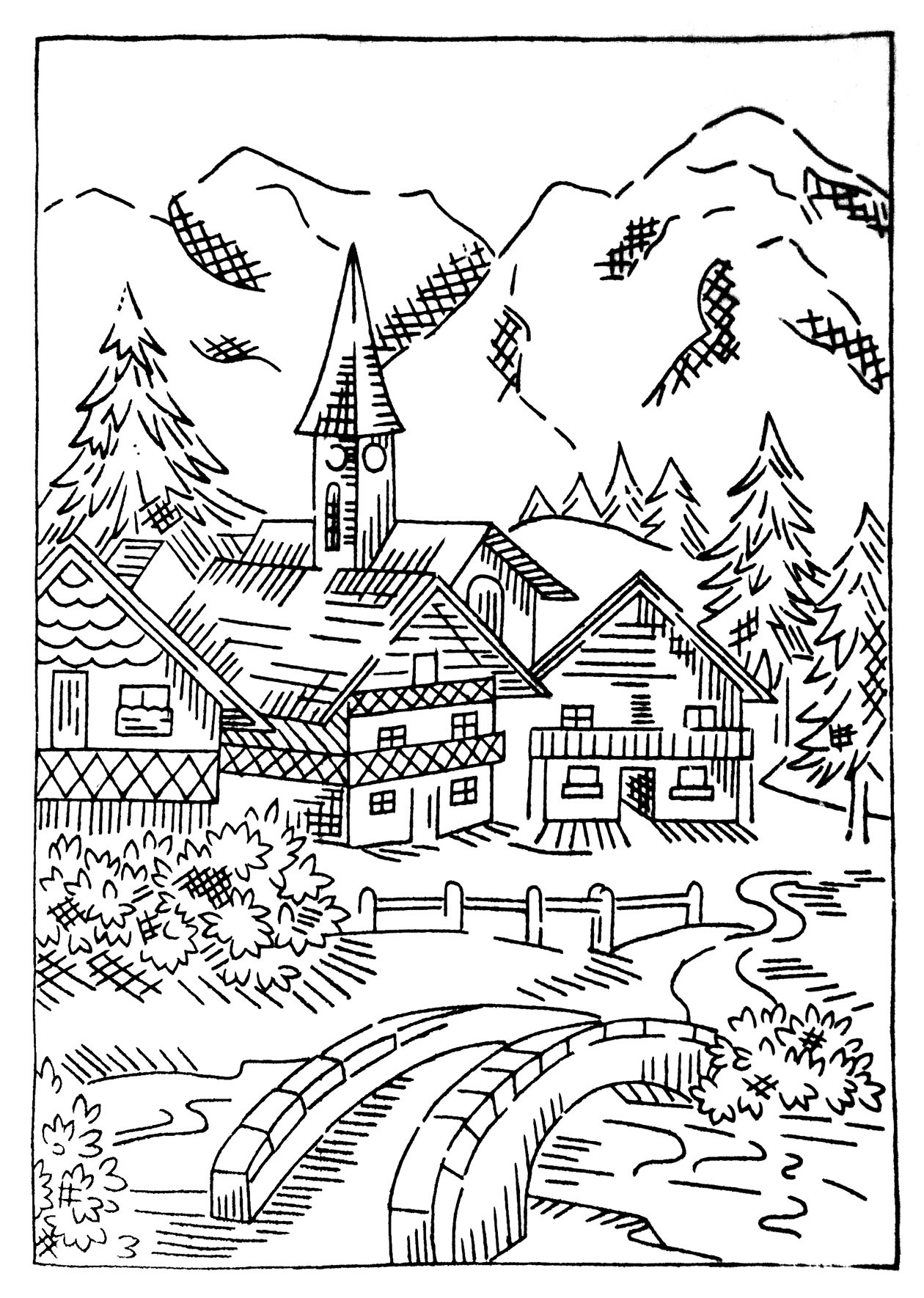 village colouring pages christmas village art to color coloring christmas pages village colouring