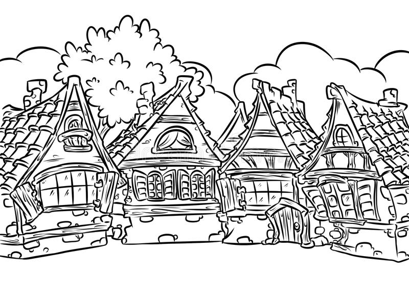 village colouring pages christmas village coloring page free printable coloring pages colouring village