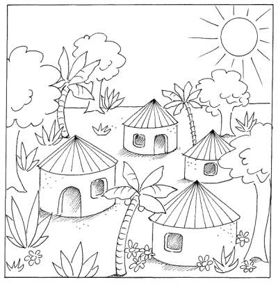 village colouring pages christmas village coloring pages christmas house colouring village pages