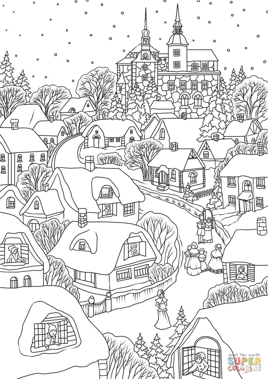 village colouring pages citiestowns and villages coloring pages printable games colouring village pages