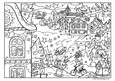 village colouring pages houses to color and print for adults christmas village pages village colouring