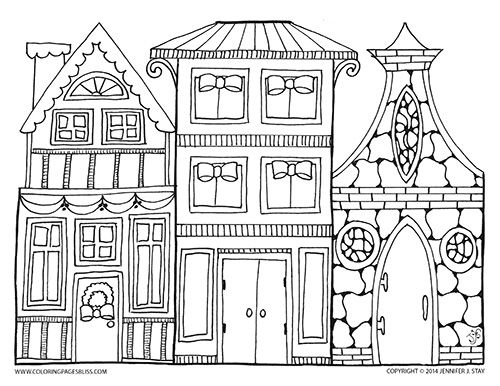 village colouring pages medieval half timbered houses village coloring page pages colouring village